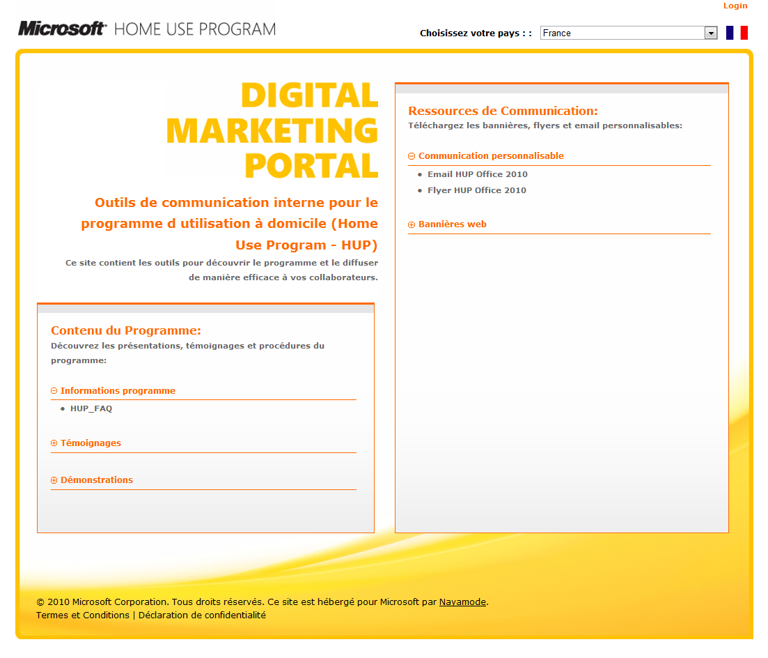 Portail de Ressources de Communication Interne http://marketing.microsofthup.