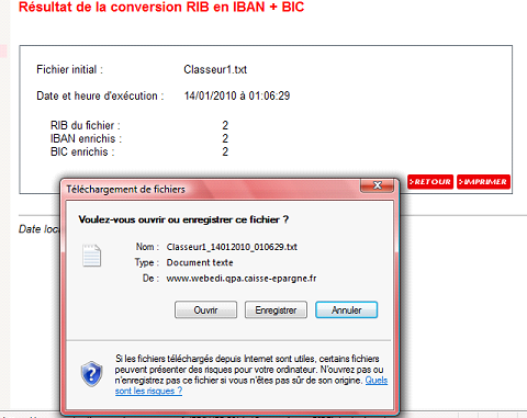 E-REMISE : MNUEL D UTILISTION Convertisseur RIB Conversion multiple