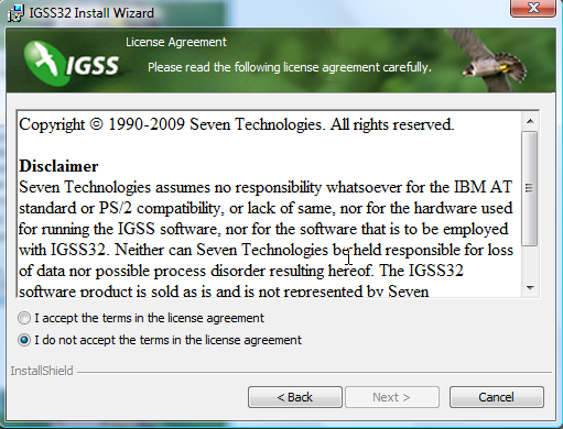 terms in the license agreement