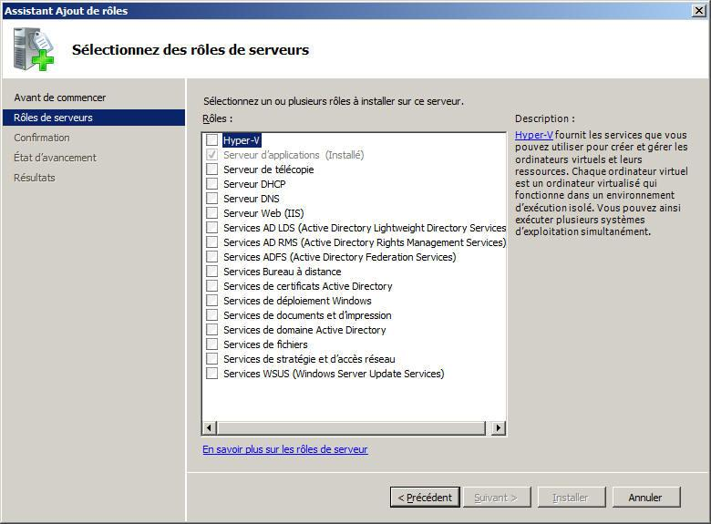 17, les rôles Hyper-V, Services AD LDS (Active Directory Lightweight