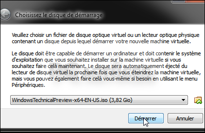 l'image disque de Windows 10.