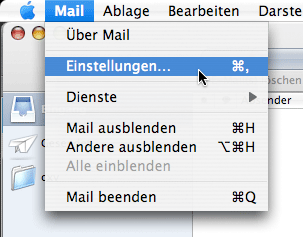 Apple / Mac MacMail (Mac OS X 10.