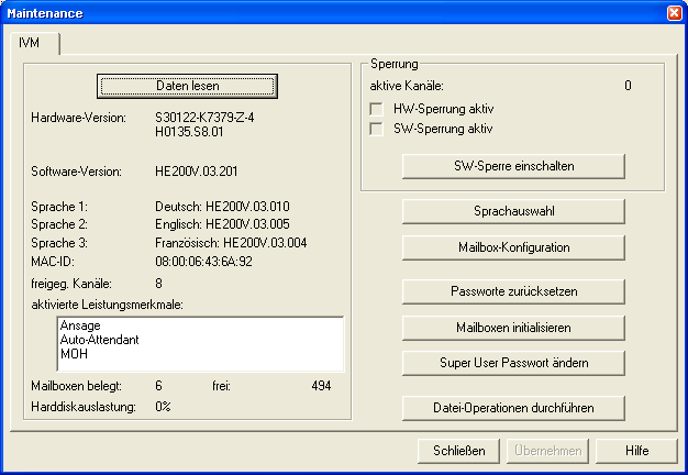 IVM : Voice to emai Siemens 1.16.