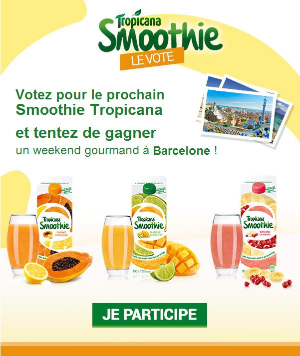 NEWSLETTER / EMAILING Jeu-Concours Tropicana 249 380
