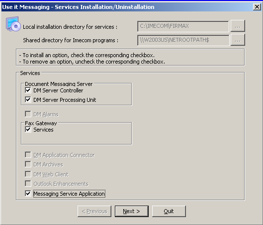 2.2 - Installation de Messaging Service Application Lancer le programme