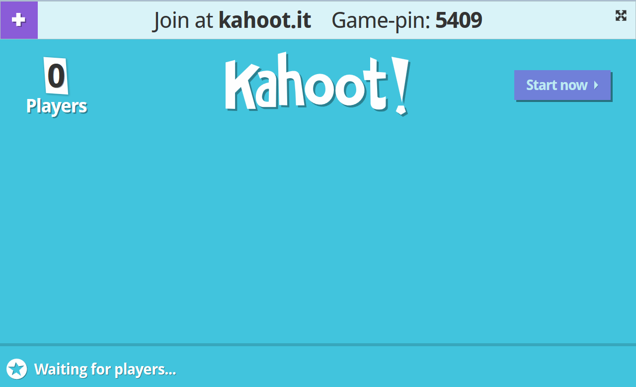 ICT workshop How to launch a kahoot Click on play Wait until your