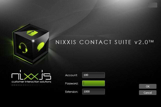 Interface Agent: Login Nixxis. All rights reserved.