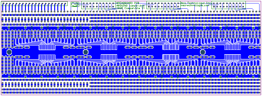 BB-PCB-SMT38 4 sections off 38 broches SOIC on top layer 4 sections of 38 broches SSOP on bottom layer Type SMT38 (Surface Mount) Montage en surface avec 4 sections de 38 broches SOIC audessus et