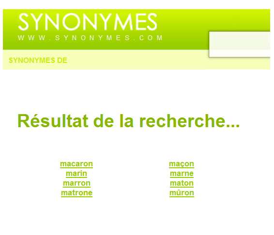 http://www.synonymes.