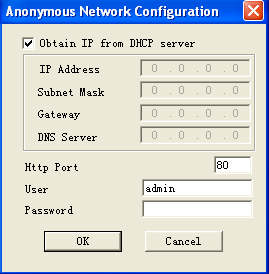 Vous obtenez la figure 9. Figure 9 Cochez la case «Obtain IP from DHCP server».