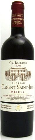 Bordeaux Producer s choice: Château Clément Saint-Jean, Cru Bourgeois 2009 Information Appellation: AOC Médoc Grapes: 60% Merlot, 40% Cabernet Sauvignon Maturation: 9 months in oak barrels Total