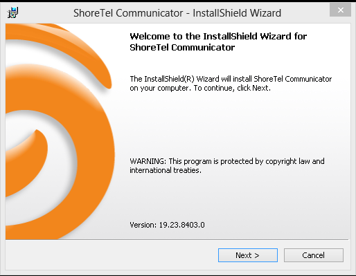 III Installer ShoreTel Communicator - Lancer le