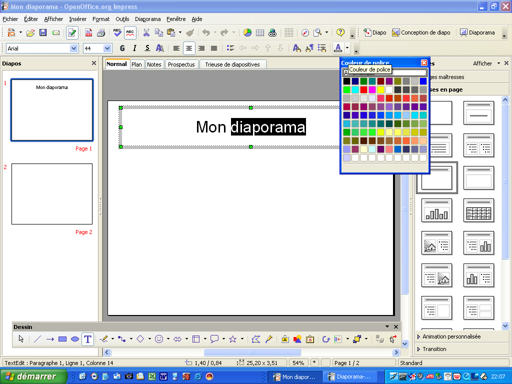 Creer un diaporama avec open office impress version 3 pdf - Comment faire un diapo avec open office ...
