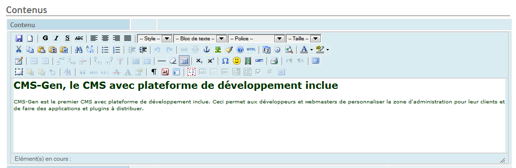 Figure 8 -Edition en mode texte HTML Figure 9 -