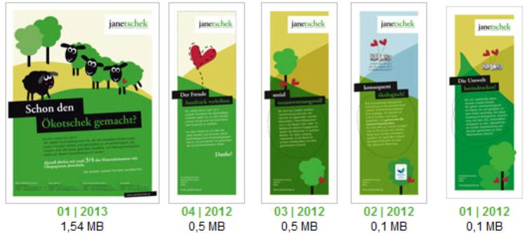 sustainability reports, image brochures and special