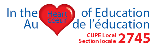 CUPE Local 2745 Scholarship Bourses d études 2015 Four scholarships valued at $1000 each are available annually for full time attendance at a Post-Secondary Institution, University or Community