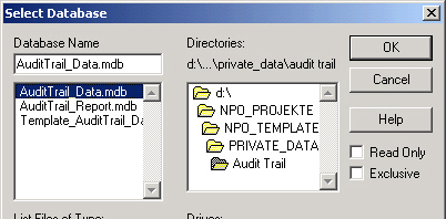 2 novapro Open Audit Trail Report Installation de la fonction 4.