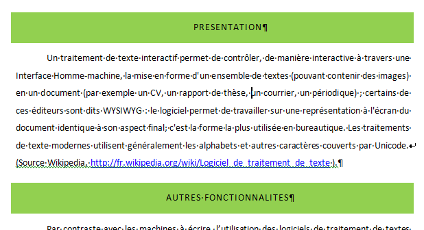 word fonctionnalit u00e9s de base  wr