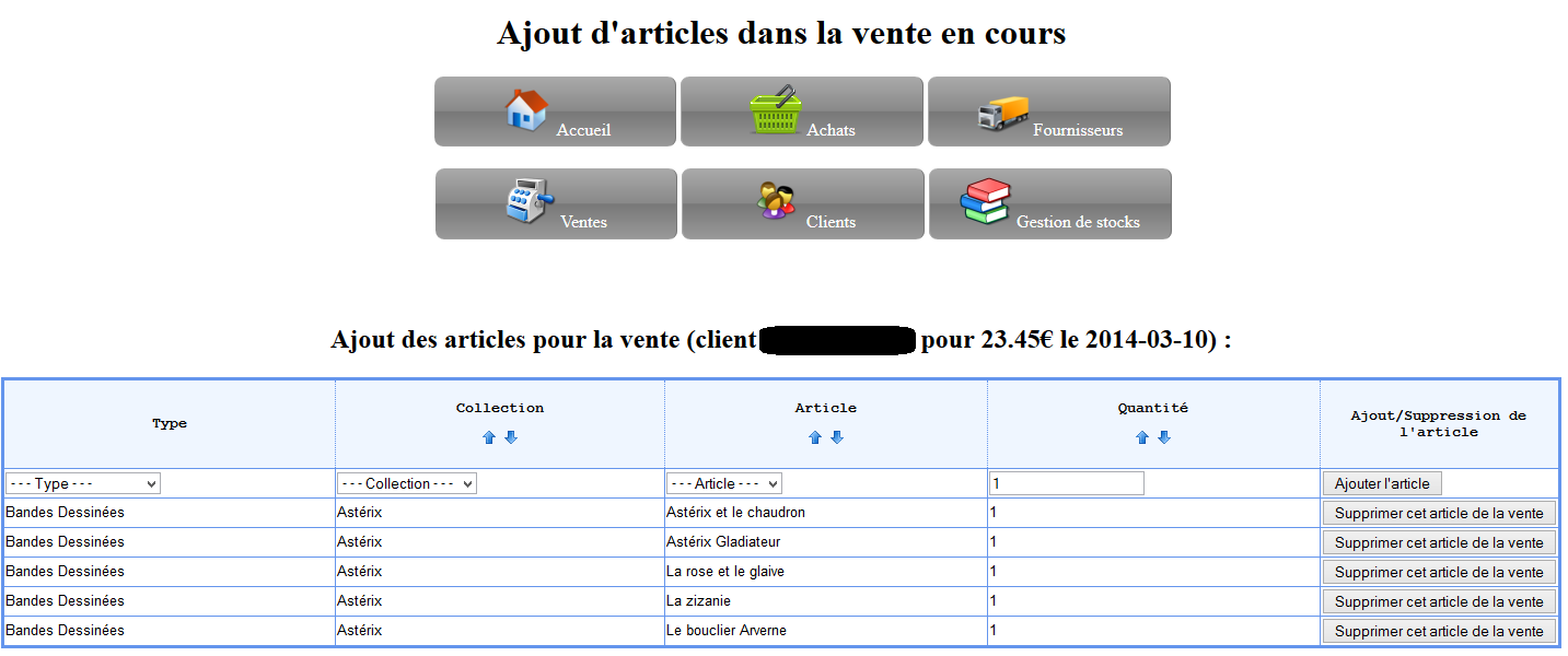 Notez qu il est possible d ajouter très rapidement des articles en sachant dans quelle collection il se trouve (la liste des collections se modifie en fonction des types de collections, de la même