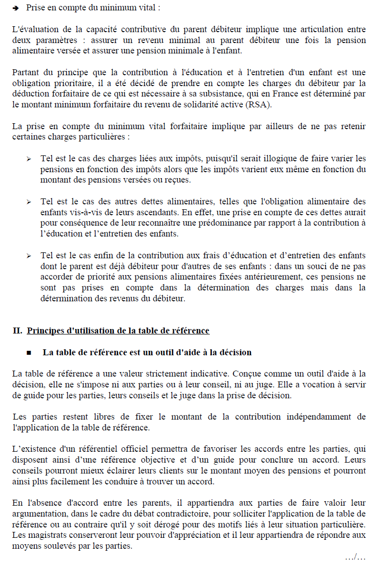 Les ruptures familiales pdf - Table de reference pension alimentaire ...