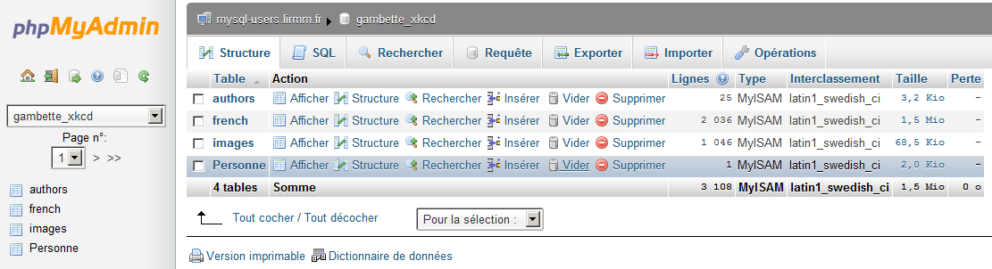 Langage de manipulation des données - DELETE Supprimer des données dans une table : DELETE FROM table_name [WHERE where_definition] [LIMIT row_count] Le WHERE permet de
