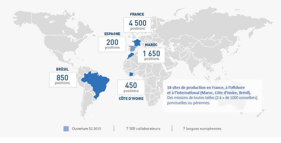 RÉSEAU DES SITES DE PRODUCTION 18 SITES DE PRODUCTION en France, à l offshore