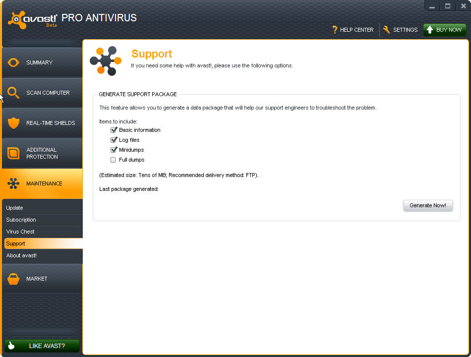 Support avast!