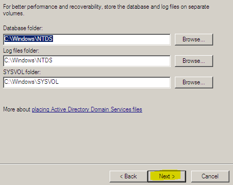 h. Additional options : Installer le service DNS, clic on Next i. Do you want to continue? > Yes I want, Sir! j.
