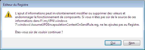 Installation rapide Sélectionner le fichier «vpn_install.cmd».