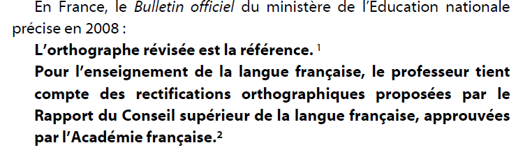Quelle orthographe enseigner?