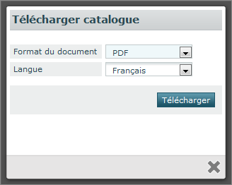 3.7.2 Sauvegarder un catalogue en format PDF Figure 10 : Versions du catalogue Ouvrez le catalogue que vous voulez télécharger. Cliquez sur l icône à côté de la version que vous voulez télécharger.