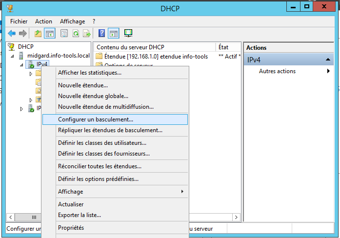 Service DHCP Introduction : répartition des charges sur le service DHCP Midgard : 19