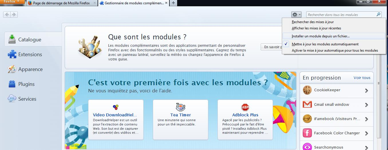 complémentaire «Remote XUL Manager».