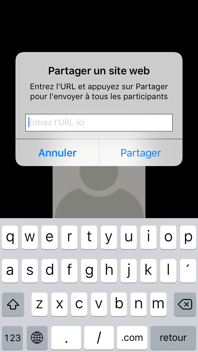 Mobile : La fonction de partage d écran sur les appareils ios (iphone et ipad) vous permet de partager des documents de sources diverses : vos photos, vos documents de Dropbox ou