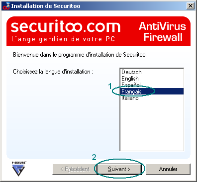 Figure 8 : Fichier SECURITOO4 C - Installer l Antivirus Firewall.
