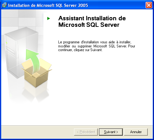 Installation de la configuration requise en cours.