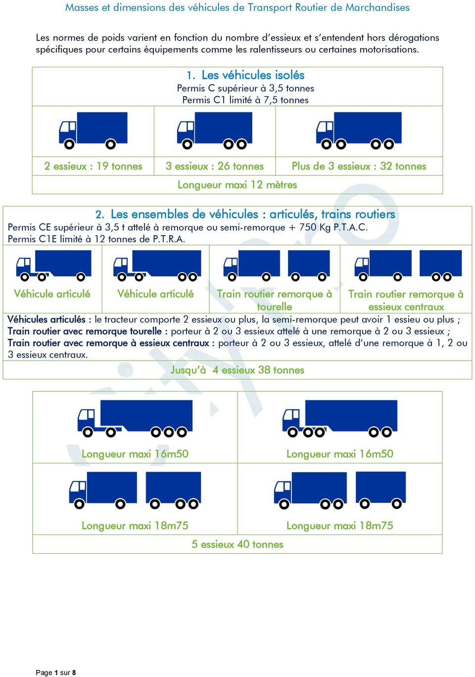 masses et dimensions des v hicules de transport routier de marchandises pdf. Black Bedroom Furniture Sets. Home Design Ideas