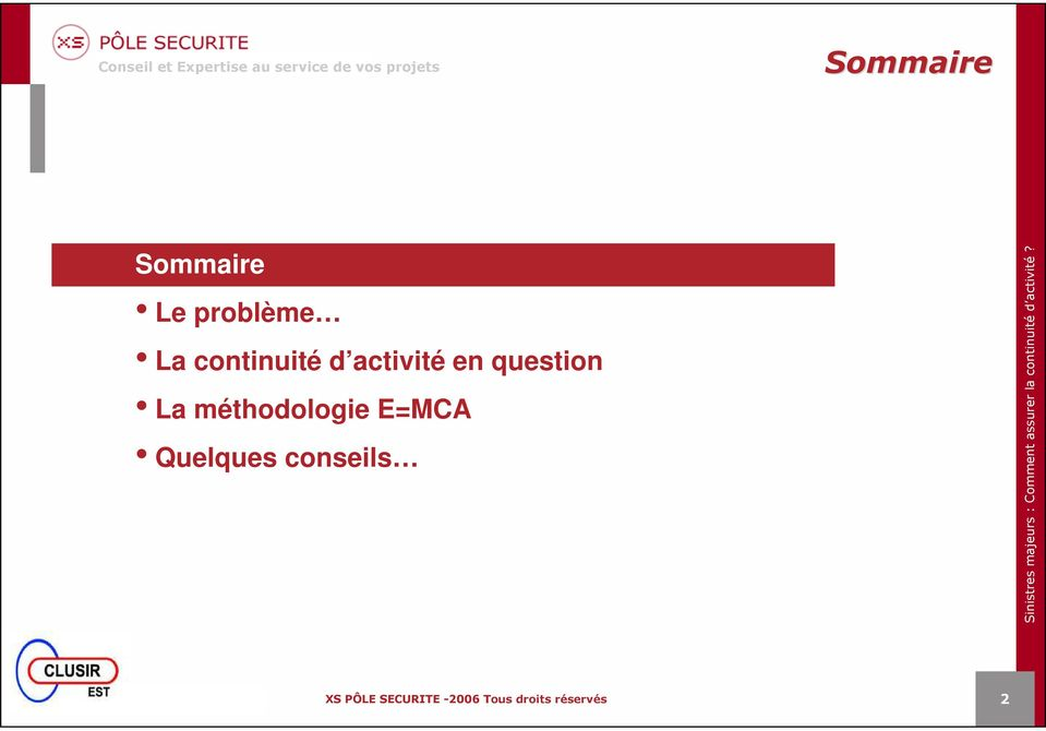 activité en question La
