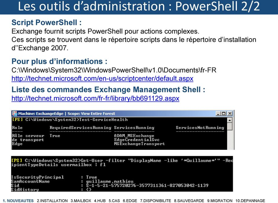 Pour plus d informations : C:\Windows\System32\WindowsPowerShell\v1.0\Documents\fr-FR http://technet.microsoft.