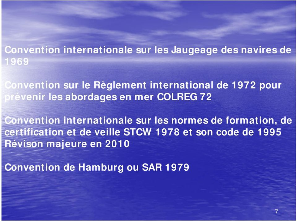 Convention internationale sur les normes de formation, de certification et de
