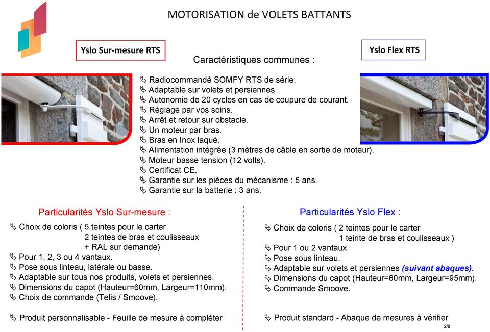 motorisation de volets battants pdf. Black Bedroom Furniture Sets. Home Design Ideas