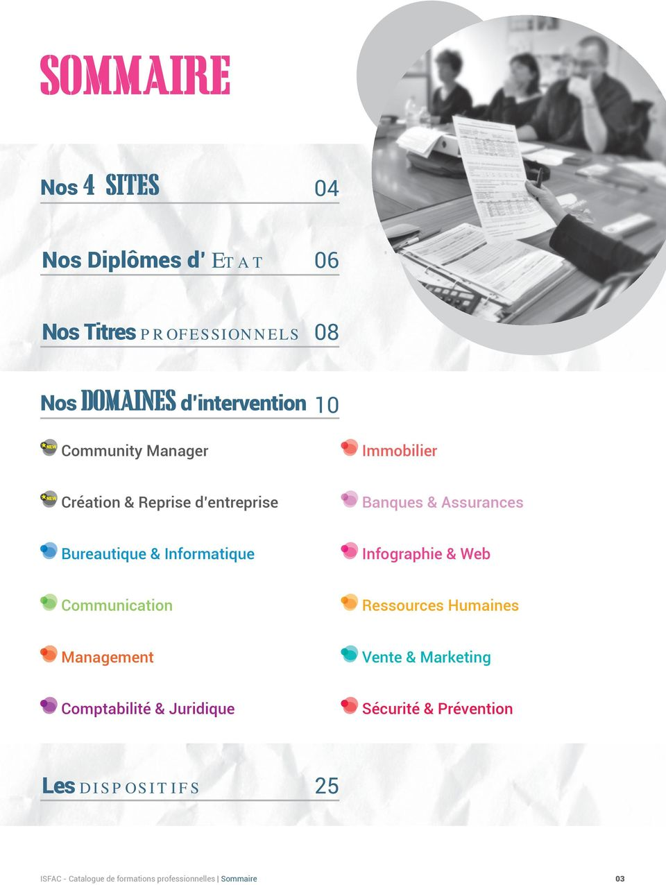 Web Communication Ressources Humaines Management Vente & Marketing Comptabilité & Juridique
