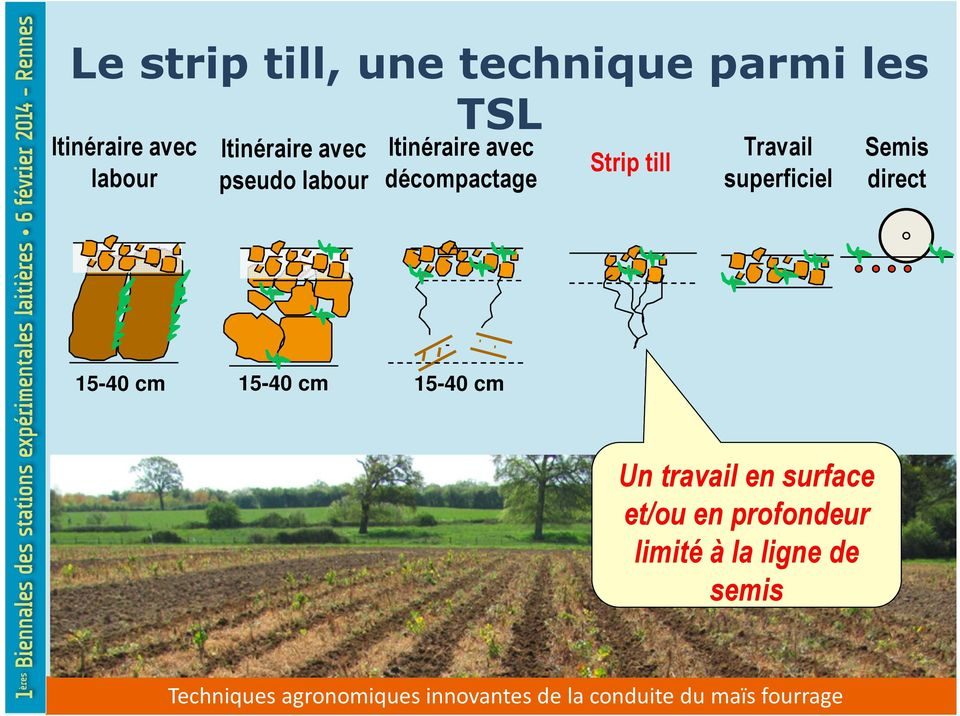 till Travail superficiel Semis direct 15-40 cm 15-40 cm 15-40 cm