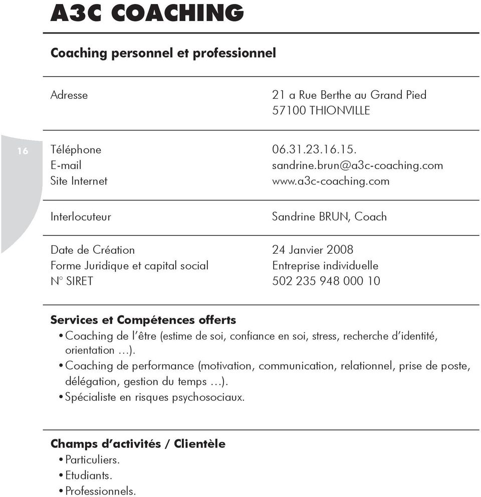 com Site Internet www.a3c-coaching.