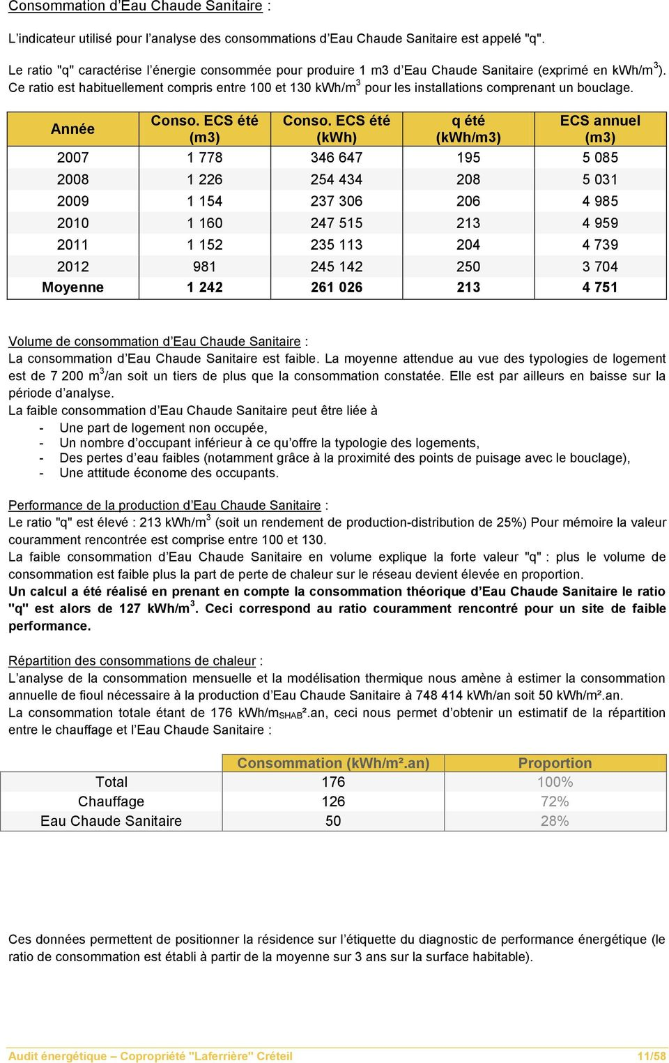 Audit energetique r sidence laferriere cr teil pdf - Consommation moyenne gaz m3 ...