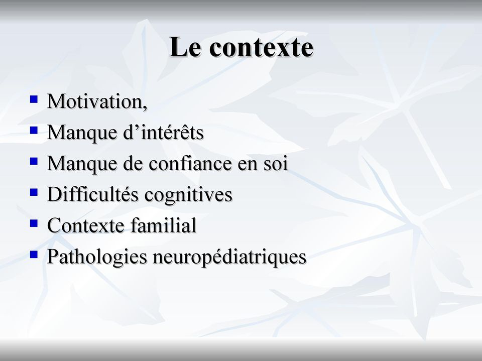 soi Difficultés cognitives