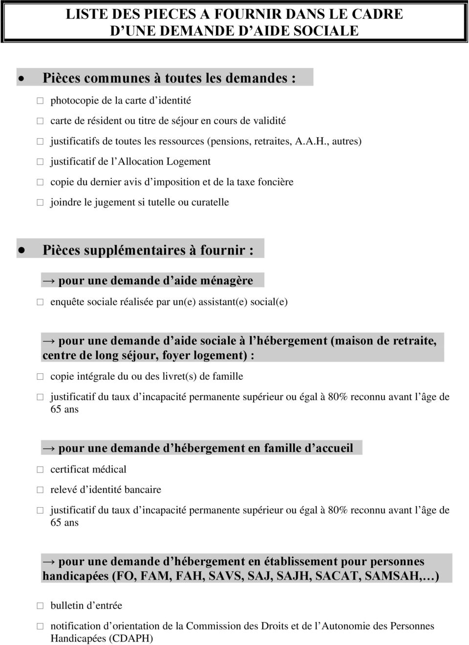 aide sociale joindre