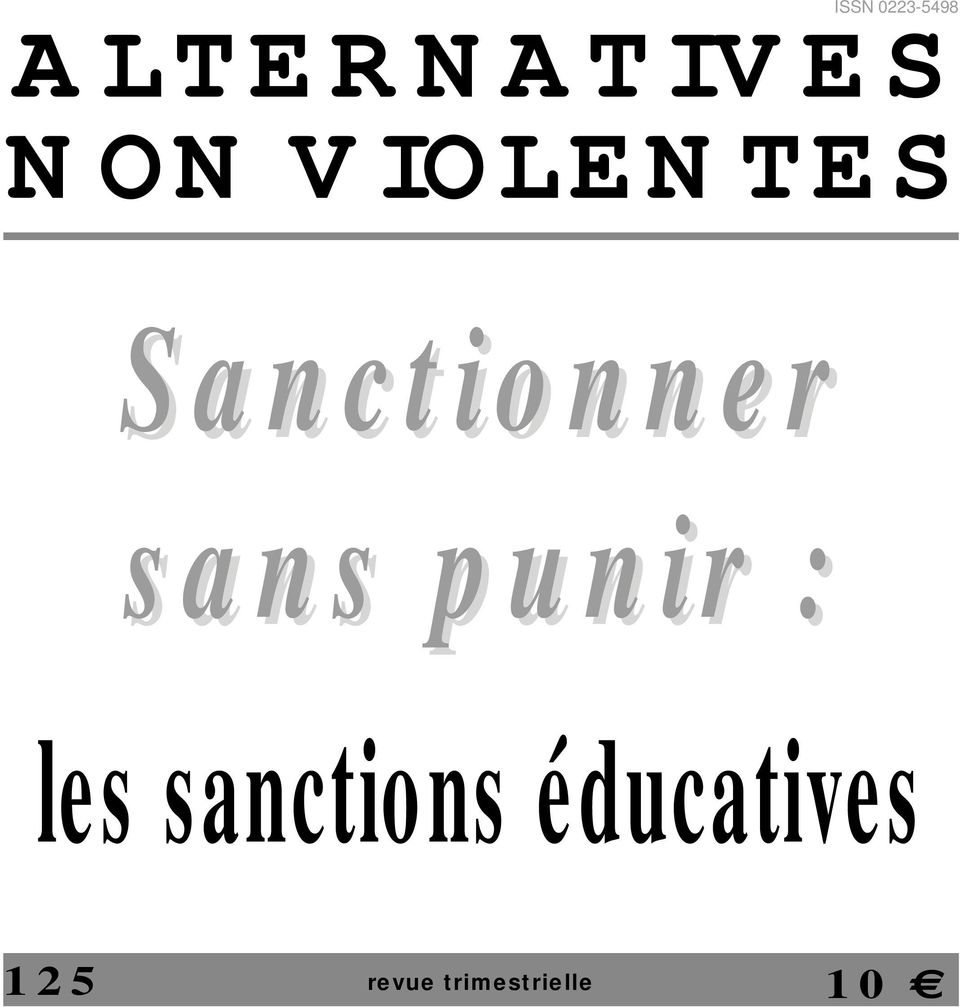 sans punir : les sanctions
