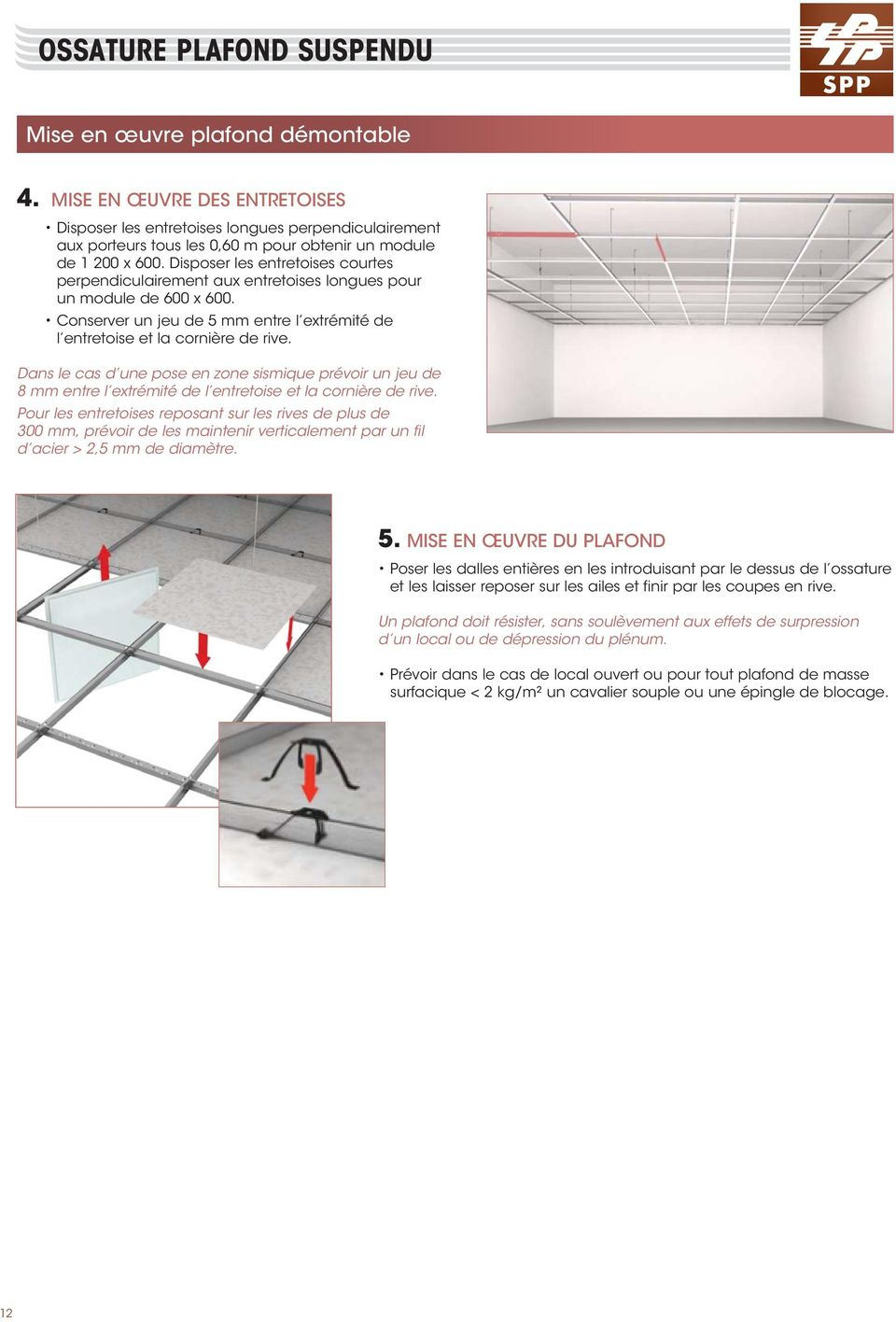 Profils omnifix porteurs entretoises corni res guide de for Attache faux plafond