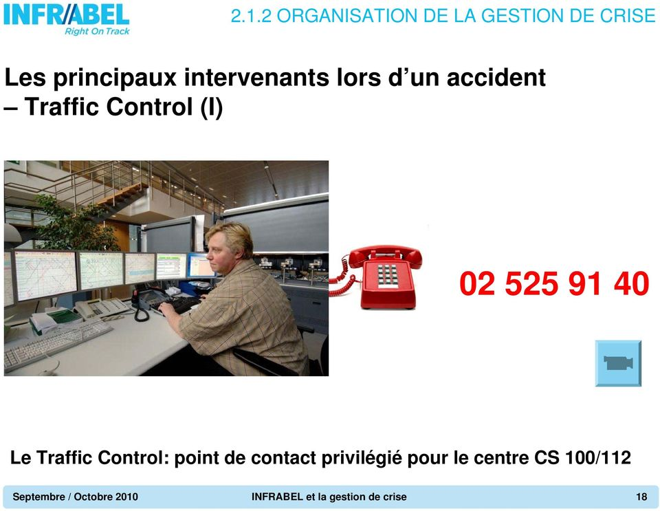 40 Le Traffic Control: point de contact privilégié pour le